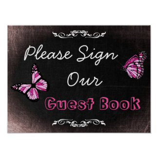 Wedding Sign, Please Sign our Guestbook Poster