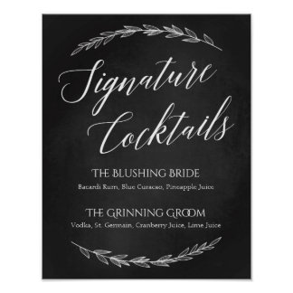 Wedding Sign – Signature Cocktail Chalkboard Sign