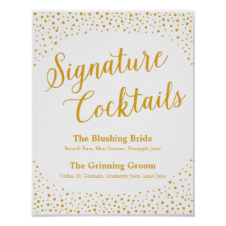 Wedding Sign – Signature Cocktail Confetti Sign