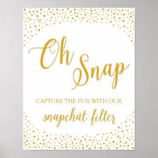 Wedding Sign – Snapchat Confetti Wedding Sign