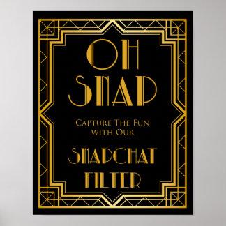 Wedding Sign – Snapchat Gatsby Wedding Sign