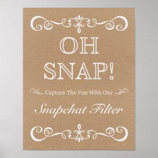 Wedding Sign – Snapchat Rustic Wedding Sign