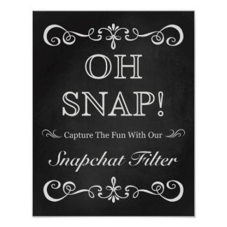 Wedding Sign – Snapchat Wedding Chalkboard Sign