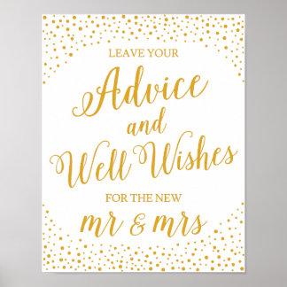Wedding Sign – Well Wishes Confetti Wedding Sign