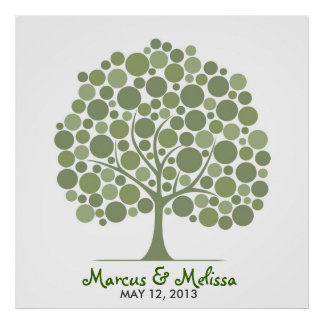 Wedding Signature Tree – Circles Poster