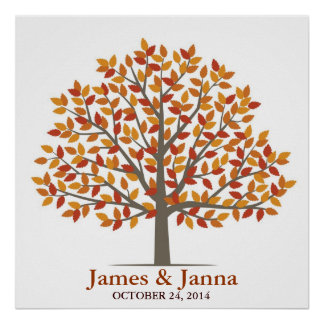 Wedding Signature Tree – Classic Fall Poster
