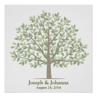 Wedding Signature Tree – Classic Poster