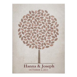 Wedding Signature Tree – Rustic Fall Poster
