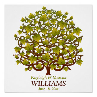 Wedding Signing Tree Personalized Poster