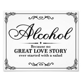 Wedding signs - Black & White - Alocohol - Photo