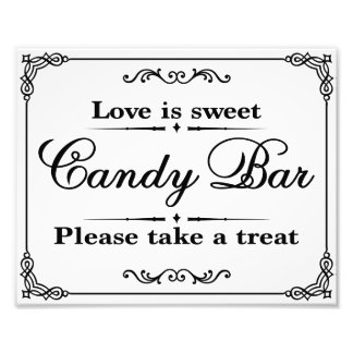 Wedding signs - Black & White - Candy Bar - Photograph