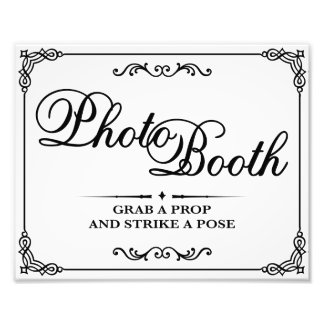 Wedding signs - Black & White - Photo Booth -