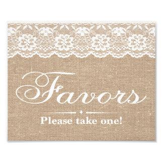 Wedding Signs - Burlap & Lace - Favors - Photo