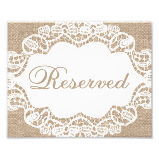 Wedding Signs - Burlap & Lace - Reserved - Photo Art