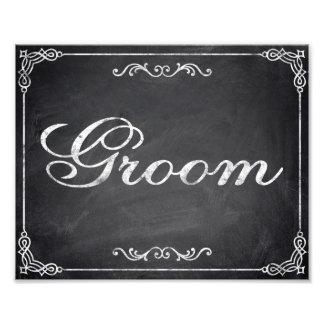 Wedding signs - chalkboard - Groom - Photographic Print