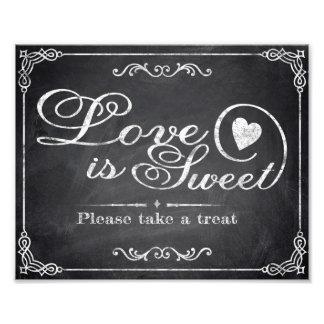 Wedding signs - Chalkboard - Love is Sweet - Art Photo