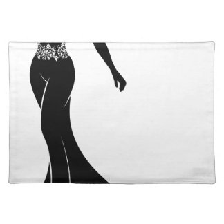 Wedding Silhouette Bride Placemat