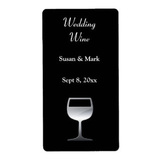 Wedding Silver Wine Label Shipping Label