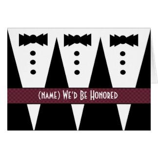 WEDDING SINGER Invitation - 3 Tuxedos