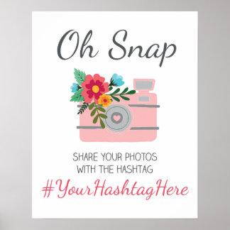 Wedding Social Media Hashtag Sign