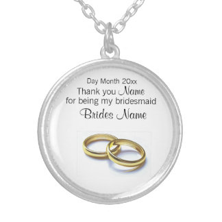 Wedding Souvenirs, Gifts, Giveaways for Guests Silver Plated Necklace