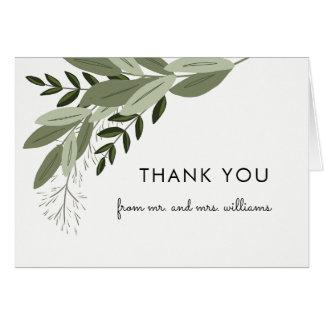 Wedding Sprig Thank You Note Card