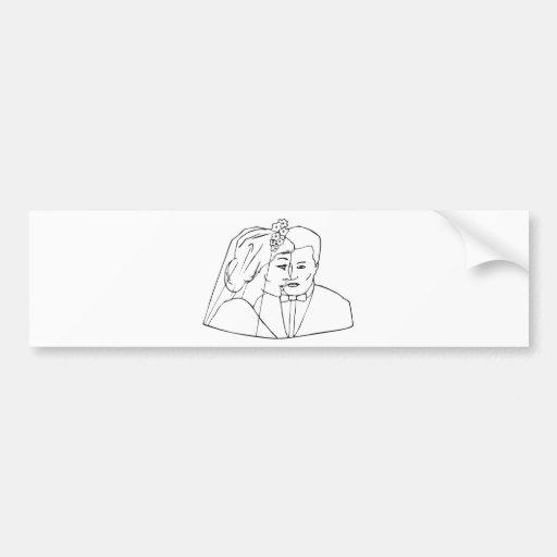 Wedding Stamps 19 Bumper Sticker