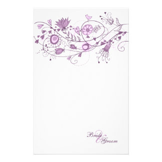 Wedding Stationary - Whimsical Lavender 1 Personalized Stationery