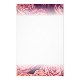 Wedding stationery pink roses