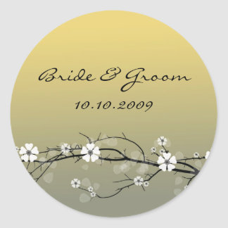 Wedding Sticker blossoms branch
