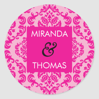 WEDDING STICKER / SEAL :: damask colors 2A