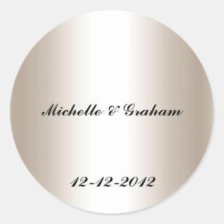 Wedding Sticker silver