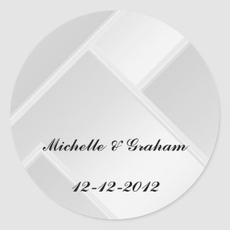 Wedding Sticker White Add your Text