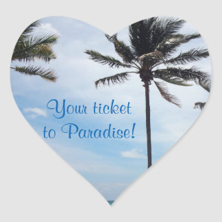 Wedding Stickers to Seal Envelope - Palm Tree I