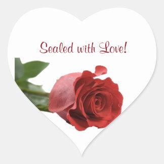 Wedding Stickers to Seal Envelope - Red Rose