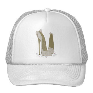 Wedding Stiletto Shoes Art Trucker Hat