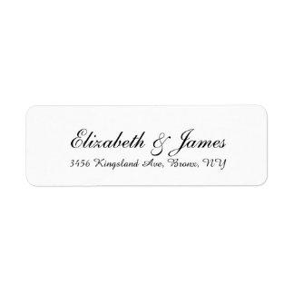 Wedding Stylish Handwriting Black White Elegant