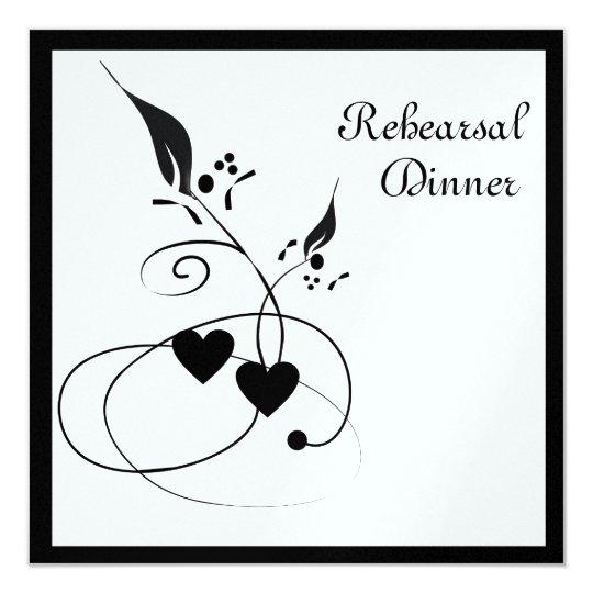 Wedding Swirls Rehearsal Dinner Invitation