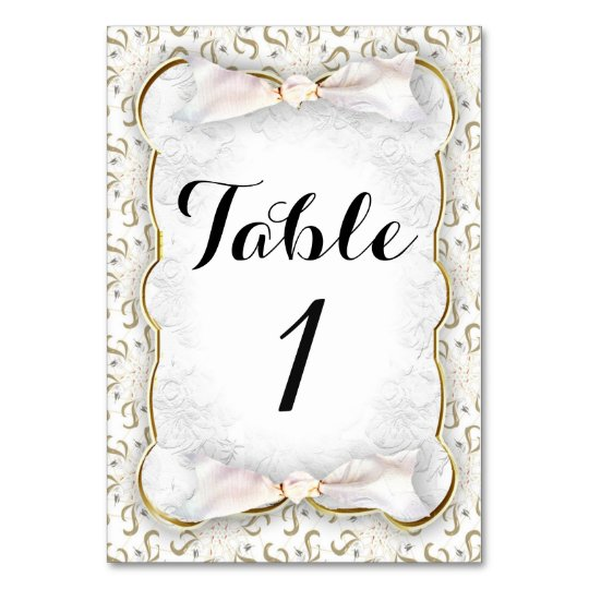 "WEDDING TABLE CARD 3.5"" x 5"" Ultra Thick"