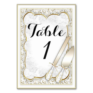 "WEDDING TABLE CARD 3.5"" x 5"" Ultra-Thick Paper"