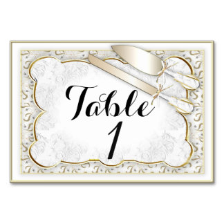 "WEDDING TABLE CARD 3.5"" x 5"" Ultra-Thick Paper   H"