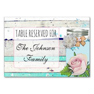Wedding Table Card Rustic Wood Shabby Vintage