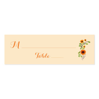 Wedding Table Guest Place Card Table Assignment Pack Of Skinny Business Cards