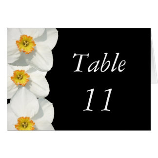 Wedding Table Number Card Narcissus / Daffodil