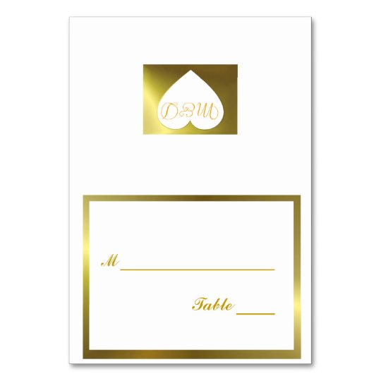Wedding Table Number Card White Golden Collection
