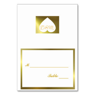 Wedding Table Number Card White Golden Collection Table Cards