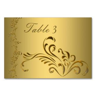 Wedding table number cards - wedding Gold elegant