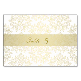 Wedding table number cards - wedding Gold elegant Table Card