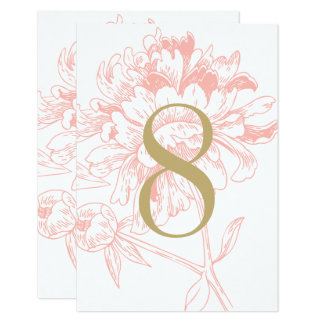 Table number cards for your wedding