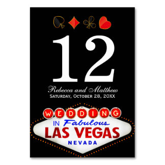 Wedding Table Number in Fabulous Las Vegas